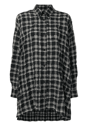 Isabel Marant oversized checked button up shirt - Black
