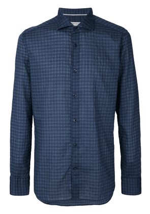 Al Duca D'Aosta 1902 pattern button shirt - Blue