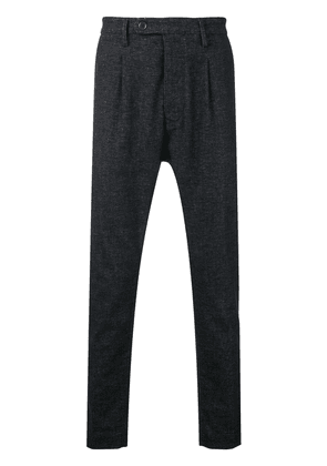 Al Duca D'Aosta 1902 melange knit trousers - Black