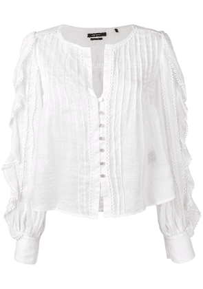 Isabel Marant ruffle trim blouse - White