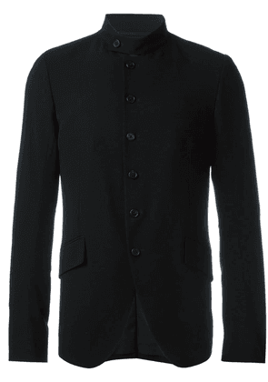 Ann Demeulemeester band collar blazer - Black
