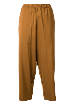 Barena elastic waistband cropped trousers - Brown