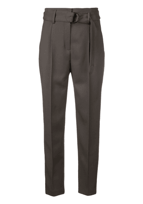 Akris Punto belted tailored trousers - Green