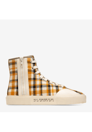 Bally Vulker Multicolor, Women's cotton high-top trainer in multi-camel