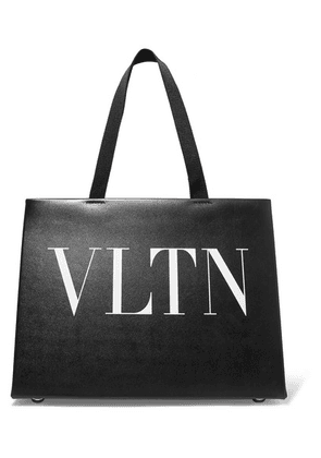 Valentino - Valentino Garavani Printed Leather Tote - Black