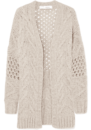IRO - Air Cable-knit Wool-blend Cardigan - Beige