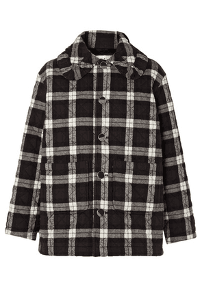 Balenciaga - Scooter Quilted Checked Cotton-flannel Jacket - Black