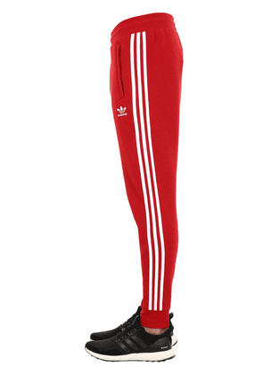 Tapered 3-stripes Cotton Sweatpants