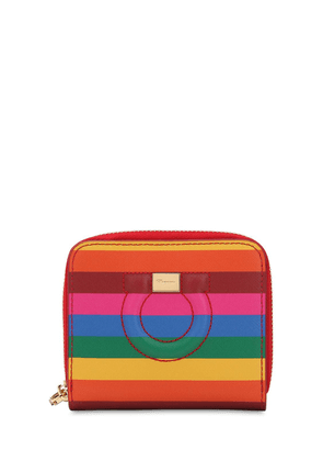Gancino Small Rainbow Leather Wallet