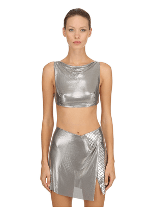 Metal Mesh Crop Top