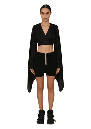 Wrapped Japonette Crop Top