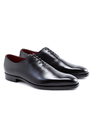 Black James Calf Leather Oxfords