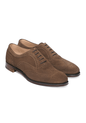 Cheaney Taupe Suede Leather Arthur III Brogues
