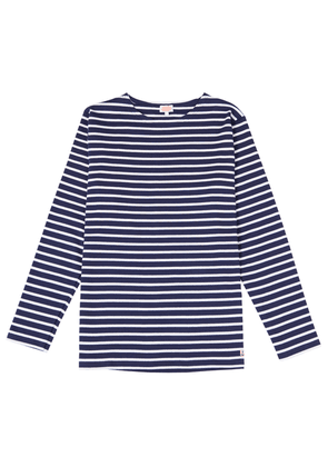 Armor Lux Navy and Cream Stripe Marini re Long-Sleeved Cotton Breton Top