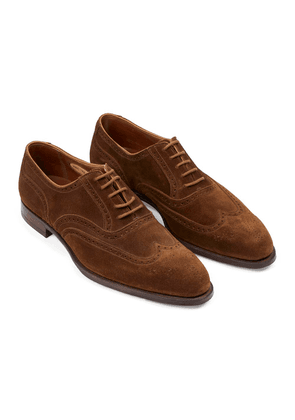 George Cleverley Tobacco Suede Reuben Oxford Brogues