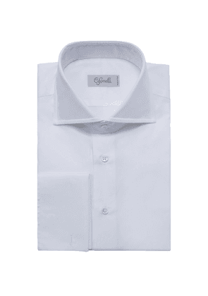 Cifonelli White Classic Spread Collar Cotton Shirt