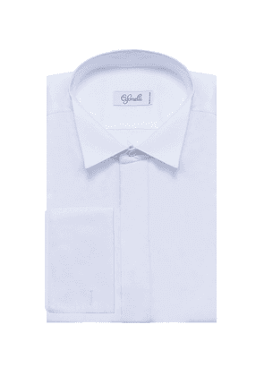 Cifonelli White Wing Collar Cotton Shirt