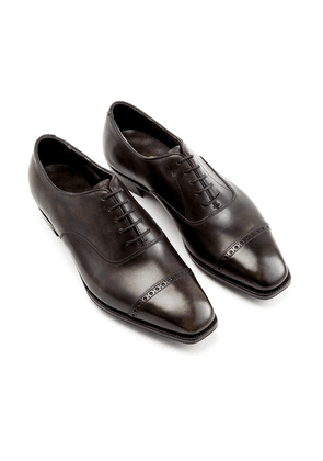Antique Steel Nakagawa Leather Oxfords