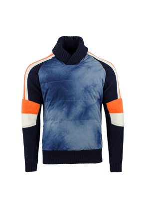 Alps & Meters Navy Alpine Combined Down-Filled Knit