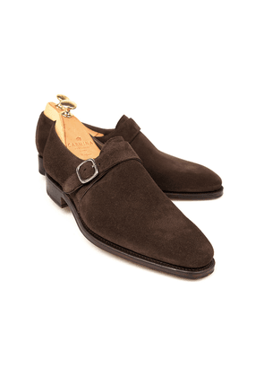 Carmina Brown Suede Monk Straps
