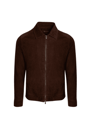 Belsire Dark Brown Suede Jacket