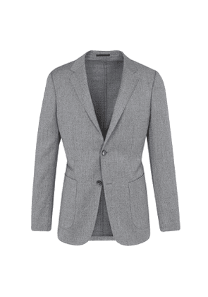 Z Zegna Grey Wool Single-Breasted Two-Piece Suit with Draw-String Trousers