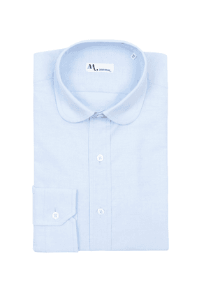 Doppiaa Light Blue Cotton Rounded Collar Shirt