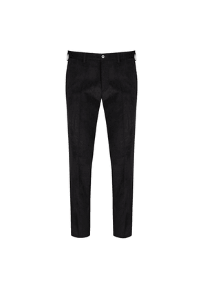 Cifonelli Black Cotton Corduroy Casual Trousers
