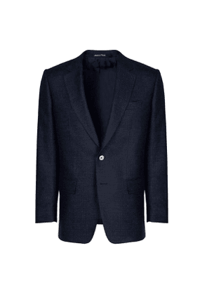 Chester Barrie Navy Hopsack Cashmere Jacket