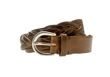 Belsire Brown Woven Leather Belt