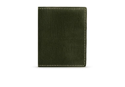 G. Lancelot Khaki Irus Lizard Leather Wallet
