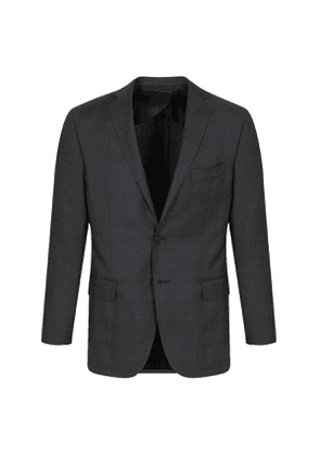 Simeone Grey Virgin Wool Check Single-Breasted Two-Piece Suit