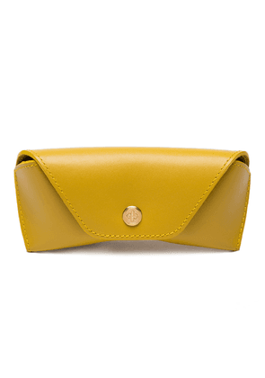 Yellow Dressed Calf Leather Spectrum Glasses Case