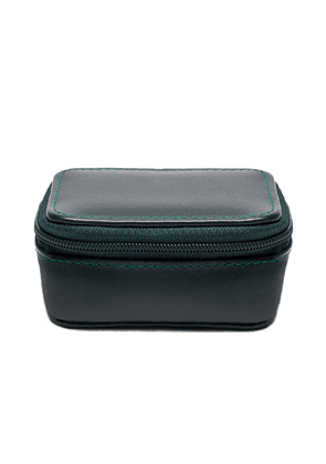 Green Dressed Calf Leather Spectrum Small Travel Zip Box