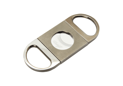 Davidoff Brushed Anthracite Double Blade Cigar Cutter
