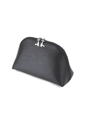 Black Soft Leather Travel Pouch