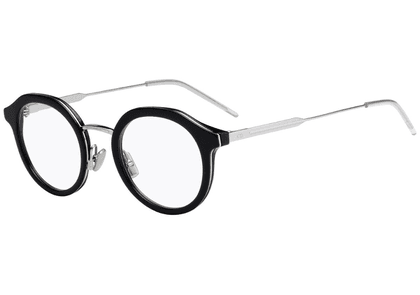 Black and Silver Round Frames with Clear Lenses Eyewear 0216 807