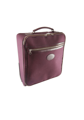 Burgundy Canvas Carry On Wheeled Suitcase