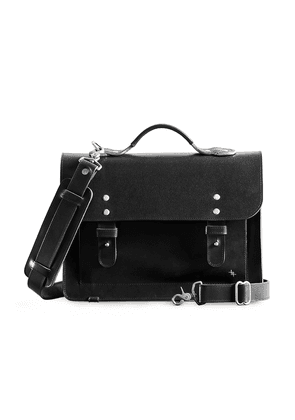 Black Leather Young Sack Satchel