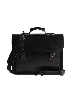 Craftory Black Leather Great Sack Satchel