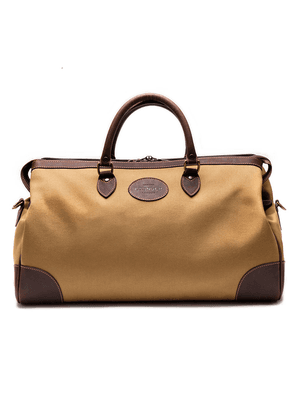 Sand Brown Canvas Pursuits Hurlingham Overnight Bag