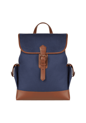 Blue Canvas and Leather Griffin Rucksack