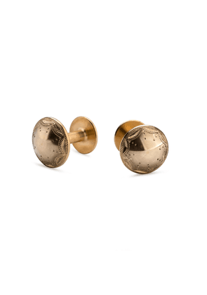 Alice Made This Hand-Engraved Brass James Bright Cut Cufflink