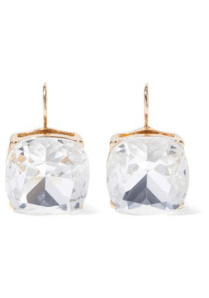 Kenneth Jay Lane Woman Gold-tone Crystal Earrings Gold Size -