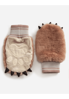 Dolce & Gabbana Hats and Gloves - FAUX FUR GLOVES PINK