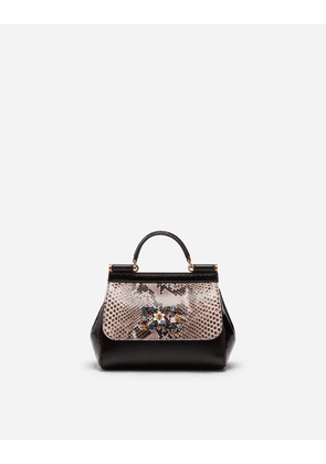 Dolce & Gabbana Mini Bags and Clutches - SICILY CROSS-BODY BAG IN A MIX OF MATERIALS MULTICOLOR