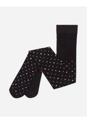 Dolce & Gabbana Underwear and Socks - TIGHTS WITH RHINESTONES BLACK