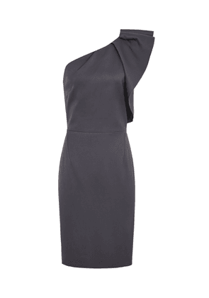 Reiss Selika - One-shoulder Cocktail Dress in Charcoal, Womens, Size 4