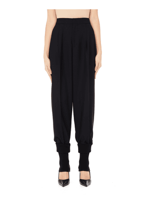 Y's Black Wool Trousers