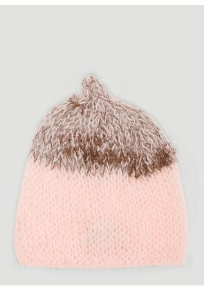 Flapper Dada Knit Beanie Hat in Pink size One Size